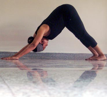 Parvatasana or Inverted V or Mountain pose