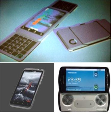 Motorola split, HTC Thunderbolt and Sony Playstation phone