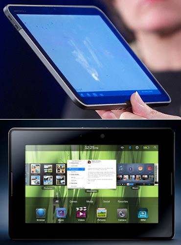 Motorola Xoom and Blackberry Playbook
