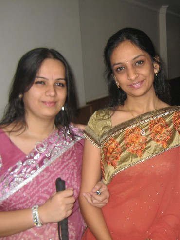 Garima Goyal with sister Neha