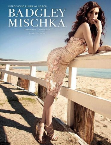 Rumer Willis for Badgley Mischka