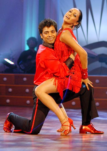 Longinus and Shveta in Jhalak Dhikla Ja 1