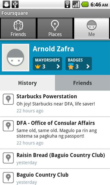 Android Foursquare