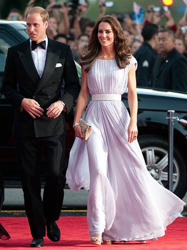Prince William and Catherine Middleton, Duke and Duchess of Cambridge, arrive at the 2011 BAFTA Brits To Watch Event on July 9, 2011