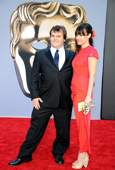 Jack Black and wife Tanya Haden arrive at the BAFTA Brits To Watch event on July 9, 2011