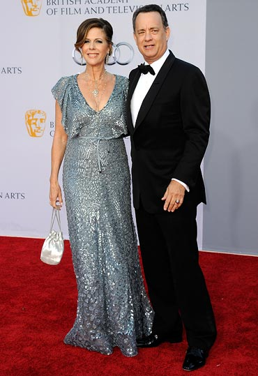 Rita Wilson and Tom Hanks arrive at the BAFTA Brits To Watch event on July 9, 2011