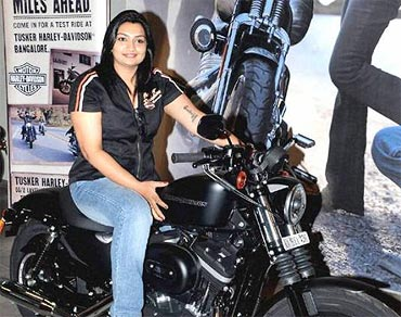 Sheeja Thomas with her Iron 883