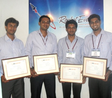 The men behind Rocket Events: Jeevan R, Somanna TP, Avinash MJ and Ajay Kiran