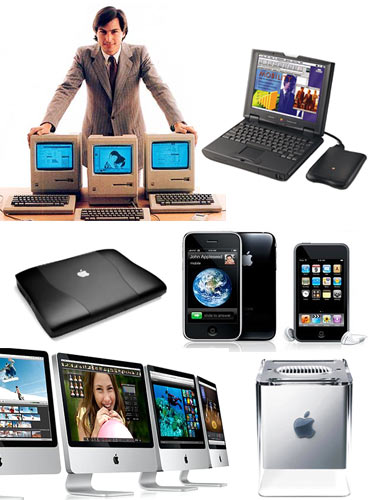 A collage of greatest Apple machines ever