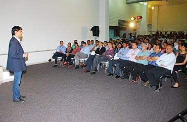 Ferose addressing employees of SAP Labs India