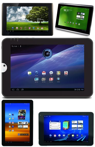 Top 5 Android Honeycomb Tablets