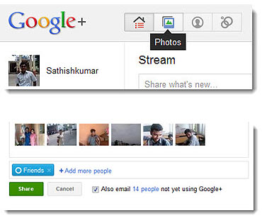How to share photos on Google Plus