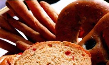 Whole grain bread, food for healthy hair