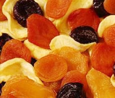 Dried fruits before workout