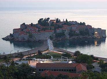 Sveti Stefan is one of the most attractive destinations in Montenegro.
