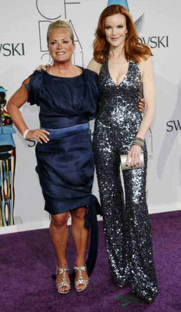 Pamella Roland and actress Marcia Cross