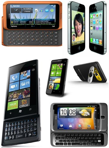 A collage of some of the smartphones in India