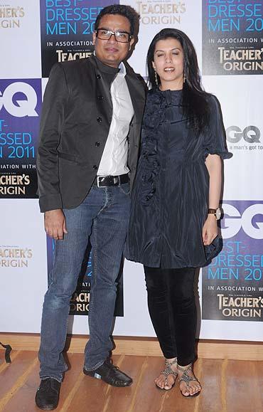 Jitish Kallat with his wife