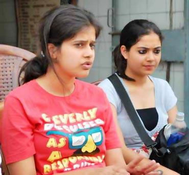 Organising Delhi's 'SlutWalk': Umang Sabarwal (left) and Mishika Singh