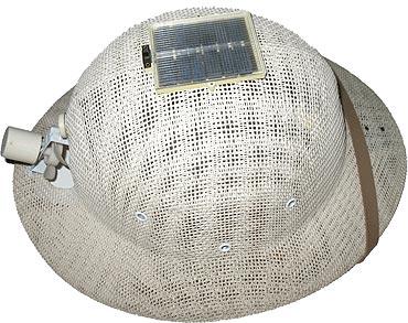 Solar cooling hat