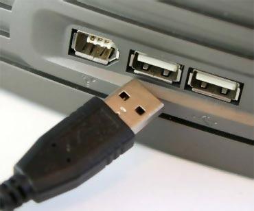 Разъём USB находится либо на передней панели, либо на задней панели компьютера.