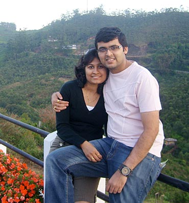 Shraddha Kabra with husband Ajay