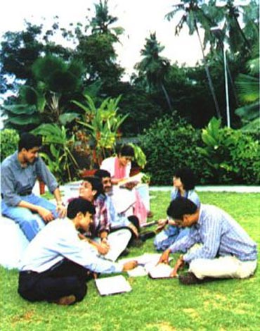 Students at IIT Kanpur