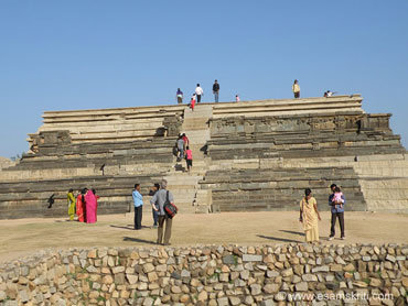 Mahanavami Dibba or the Dussera platform in Hampi is a royal platform