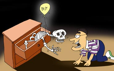 Skeletons have a nasty habit of tumbling out of the closet