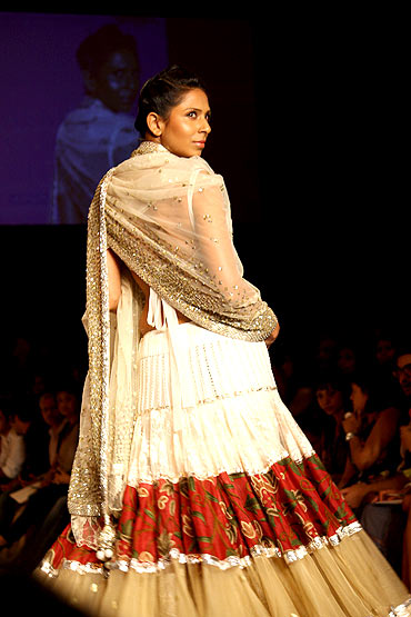 Model Candice Pinto in a Manish Malhotra creation.