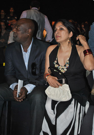 Vivian Richards and Neena Gupta attend Masaba's showing