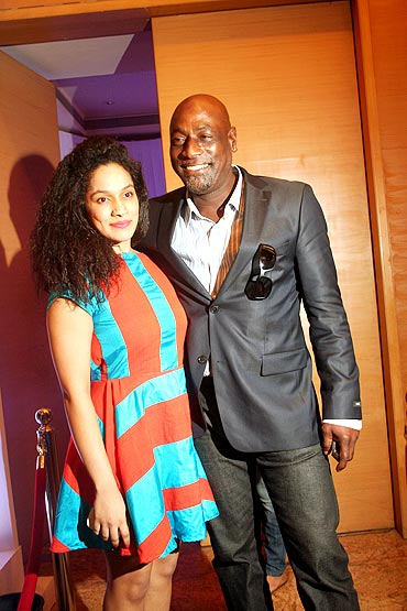 Sir Vivian Richards with Masaba