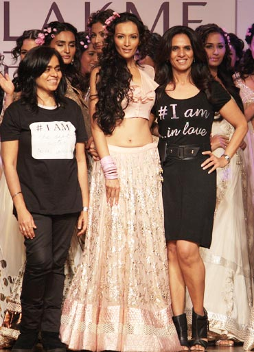 Dipannita Sharma and (right) Anita Dongre