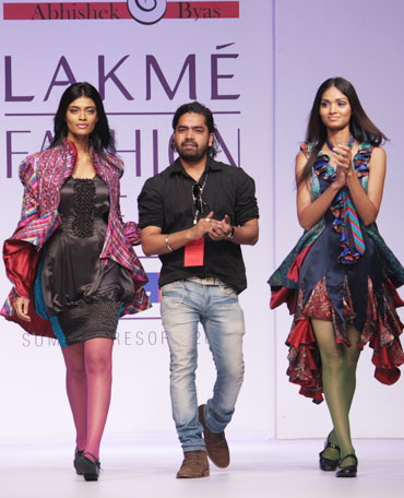 Abhishek Byas with two of his creations