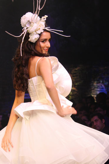 Shraddha Kapoor in a Gauri and Nainika creation.
