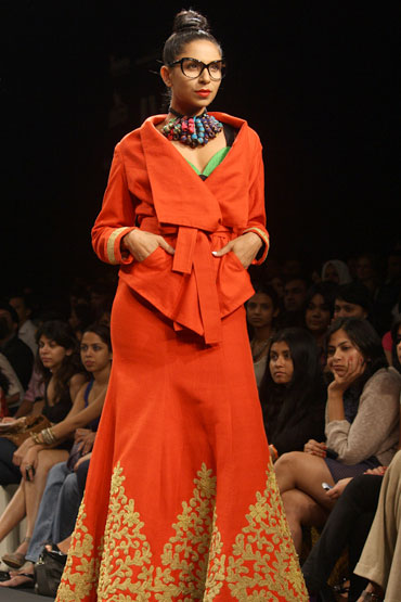 A Sabyasachi creation showcased at the LFW this season
