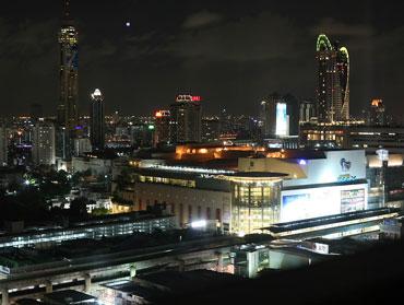 Bangkok, Siam square at night