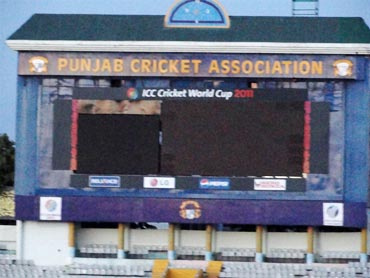 The Mohali scoreboard