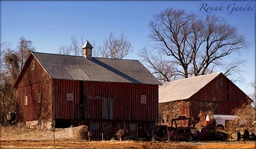 An abandoned barn in a rural area outside Baltimore City, Maryland, USA