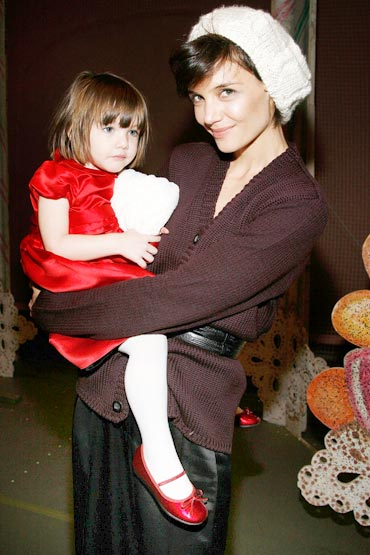 Suri Cruise with mother Katie Holmes