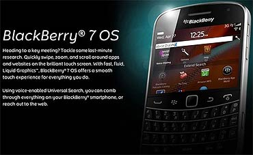 RIM reveals the new BlackBerry 7 OS