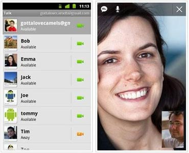 Video chat comes to Android via Google Talk