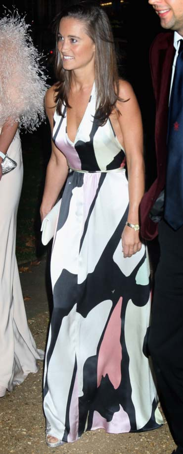 Pippa Middleton arrives at the End of Summer Ball in Berkeley Square on September 25, 2008 in London, England