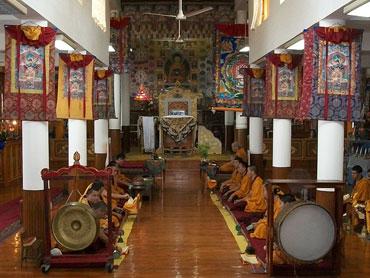 Temple inside the Tsuglagkhang