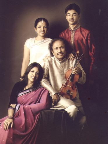Bindu Subramaniam with her family