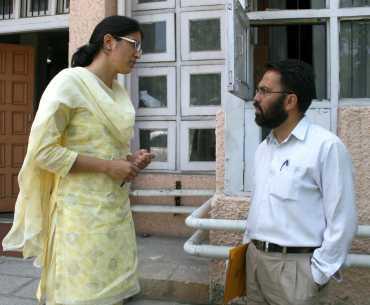 Ovessa Iqbal with her professor