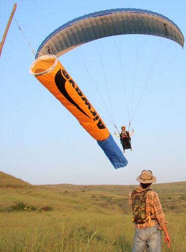 Sanjay Rao paragliding at Kamshet.