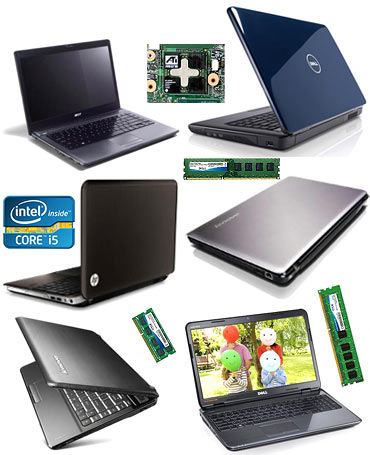 A collage of six laptops for MBA students
