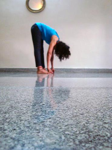 Hasta-pada uttanasana (Hand to feet, full stretch pose)