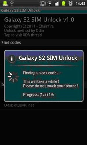 An app from the Android Market to unlock Galaxy S II